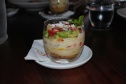 Avocado & Strawberry Trifle with Agave Sabayon